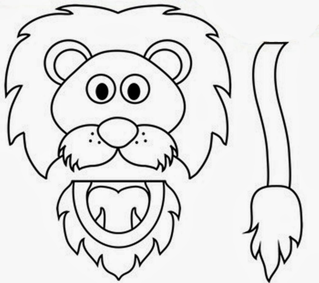 Free Coloring Pages Of Animal Paper Bag Puppets